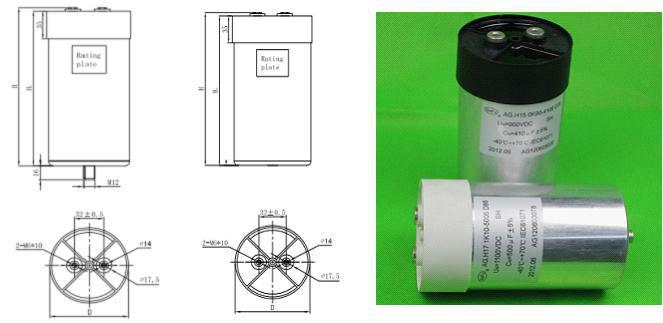 dc filter capacitor 100uf 1400vdc capacitor