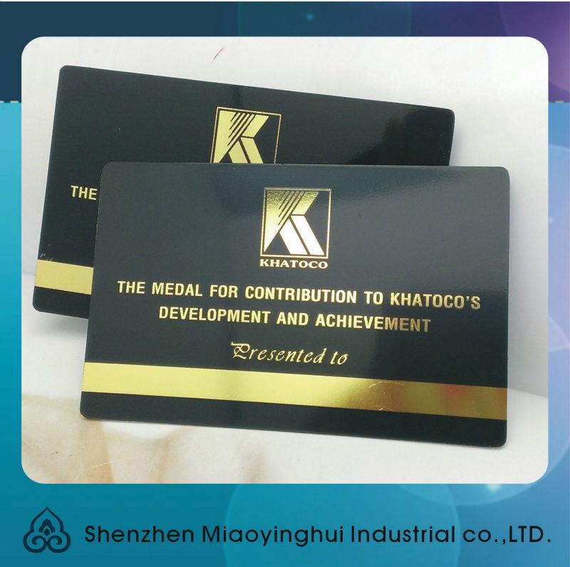 China black oxide matt black metal business card