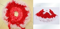 Юбка для девочек Tutu skirts Baby skirts girls ballet Tutu dress girls dresses girls Stage Costume RED+WHITEY