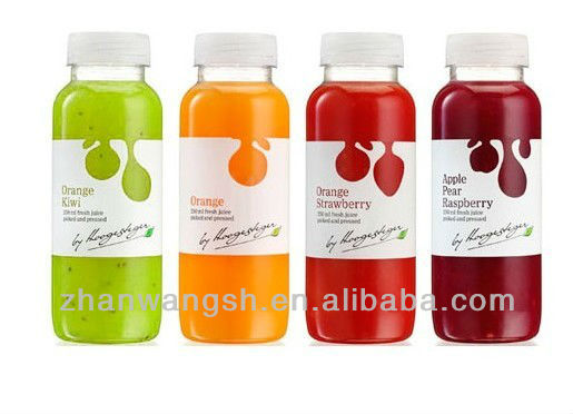 Image Gallery juice bottle labels