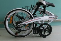 "Smart High quality 20""wheel 7-speed folding bike for woman V-brake Sh-ma- no thumb shifter"