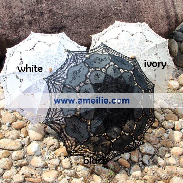 Белый винтаж со зонты