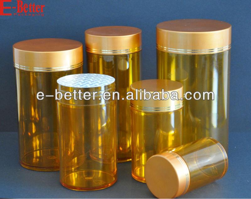 amber series plastic capsule container
