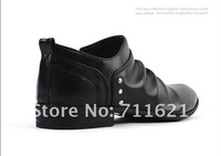 Мужские кроссовки 3 colors MEN'S leather shoes Casual canvas shoes boy high boots US size:6.5-10 EUR size 39-44 HI-06