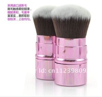 Кисти для макияжа Retractable Kabuki brush Mineral Powder Blush Face Makeup Brush Pink Brand NEW