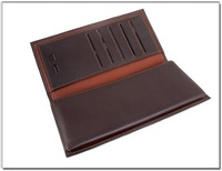 S.C + 100% Genuine Spain Leather Bi-fold Wallet + Nice fashion 2011 designer purses hot selling QC0003-3