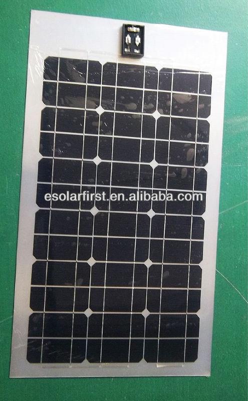 100W semi flexible mono silicon solar panel with big size