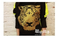 Комплект одежды для девочек Girls new cotton thick velvet tiger head piece cute leisure sports suit