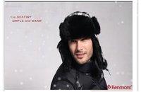 Мужская круглая шапочка без полей Holiday Sale EMS Rabbit Fur Trapper Hat, Fashion Style Kenmont-2143-32 Black/White