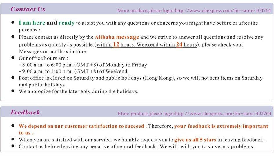 5,Contact us feedback