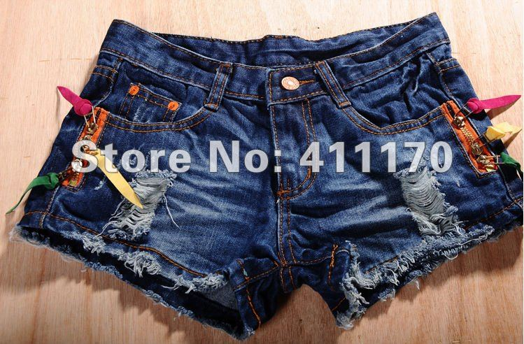 Free shipping Hot pants ,2012 Hotsale Summer Jeans Short Women