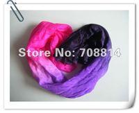 Женская одежда BELLY DANCE chiffon VEILS 100% SILK hand-dyed gentle transition of pink purple to black