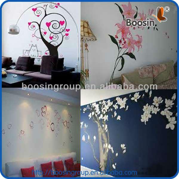 Printemps fleur aucun r sidu collant stickers muraux home for Collant mural walmart