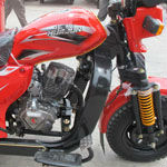 Designed model advanced electric three wheel motorcycle from china
