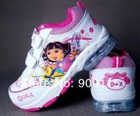 Кроссовки для девочек new fashion dora children's clothing sport shoes, girl's shoes with light Искусственная кожа