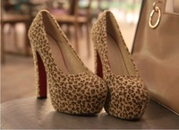 Туфли на высоком каблуке 2012 Euramerican Sexy Leopard Platform Ladies Shoes