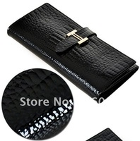 ladies'100% genuine leather wallets new 2012 free shipping fashion women's top grade clutch bag ladies' money clip purse