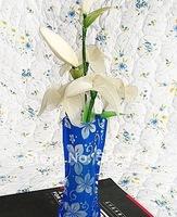 50 pcs/lot fashion PVC flower vase folding plastic vase home decorative vase mix order