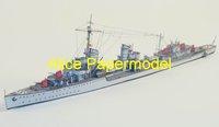 Алиса papermodel] 1: 250 второй мировой войны sms destoryer z10 и t24 броненосец крейсера военной модели лодок