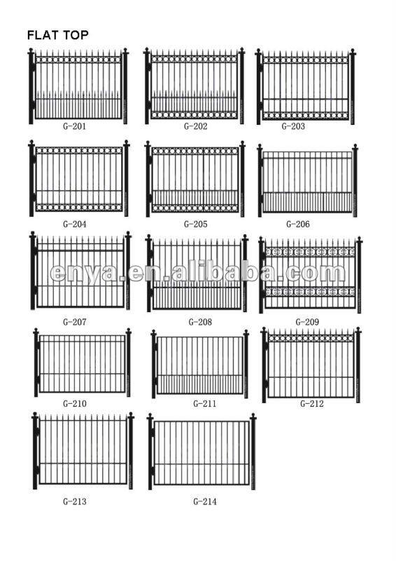 cerca de jardim ferro:Wrought Iron Fence Designs