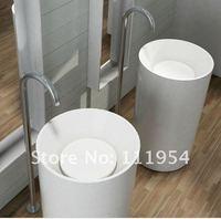 Умывальник для ванной New design small resin basin pedestal sink