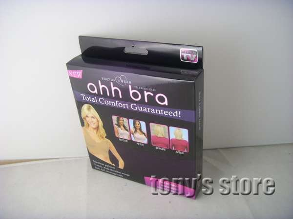 Free shipping! High Quality HOT Ahh Bra 3pcs/box Rhonda Shear Ahh Seamless Leisure Bra One-Piece as on tv can drop shipping