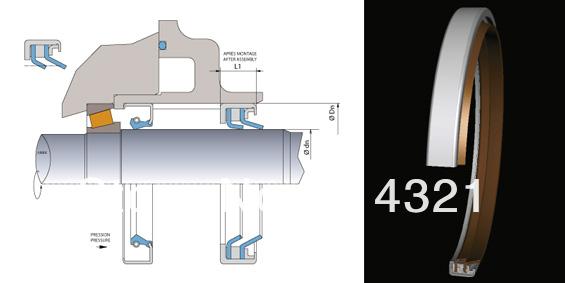 Meachnical Ptfe Sealing Part For Air Compressor Ptfe Shaft