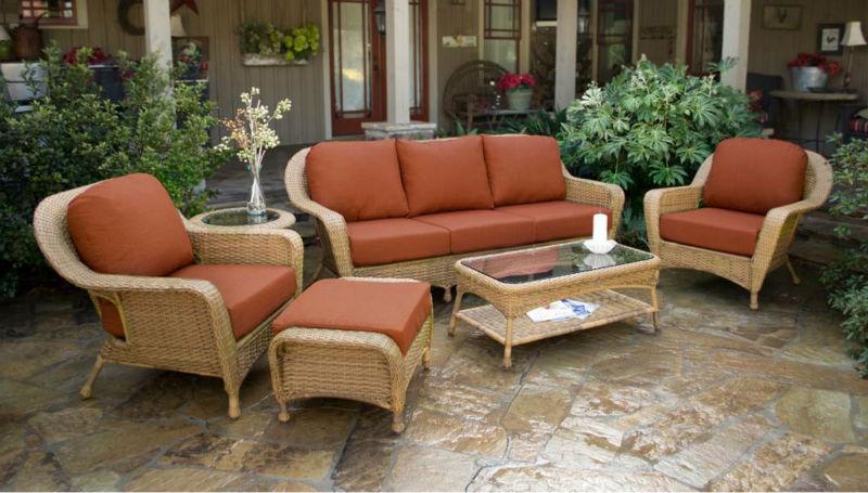 Classique design jardin patio en rotin divan utilis - Canape en osier ou rotin ...