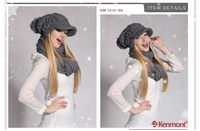 Женская шапка Holiday Sale Kenmont Winter Hat, al Hand Knit Wool Hat KM 1212-09 Dark Grey hut