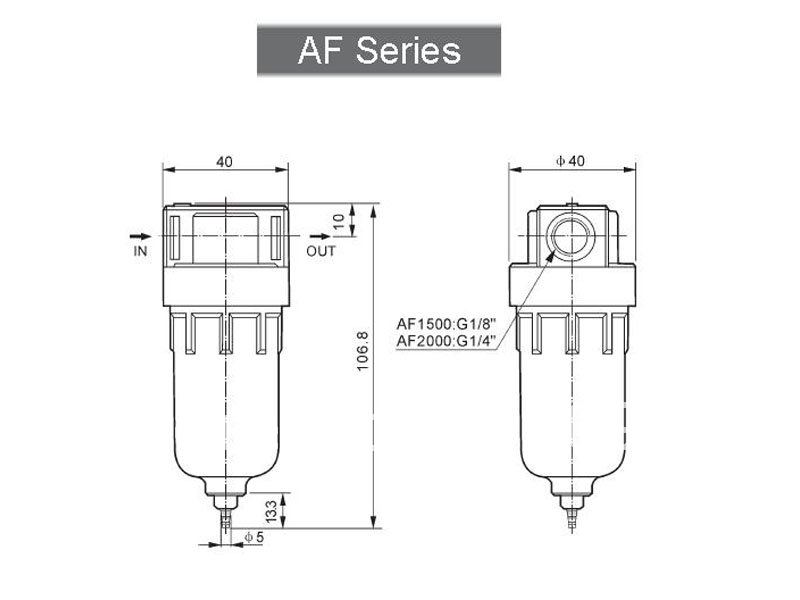Airtac BF Series BF4000 Air Source Treatment Pneumatic Filter