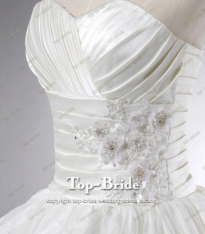 S650 Real Romantic Sweetheart Crystal Suzhou Wedding Dress Real Sample