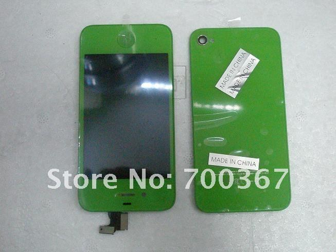 4g lcd assembly with back green no logo