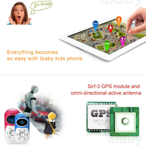 Ibaby Q5G gps SOS kids emergency gsm phone