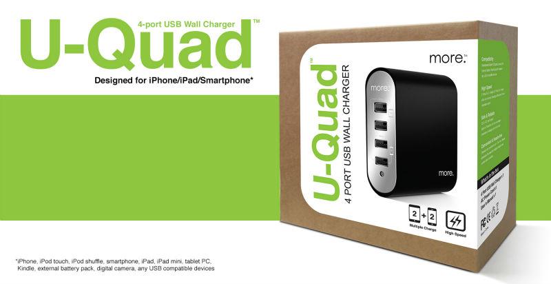 U-Quad 4-port Wall Charger