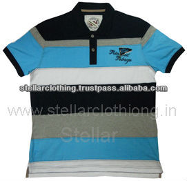 YARN DYED POLO T-SHIRT
