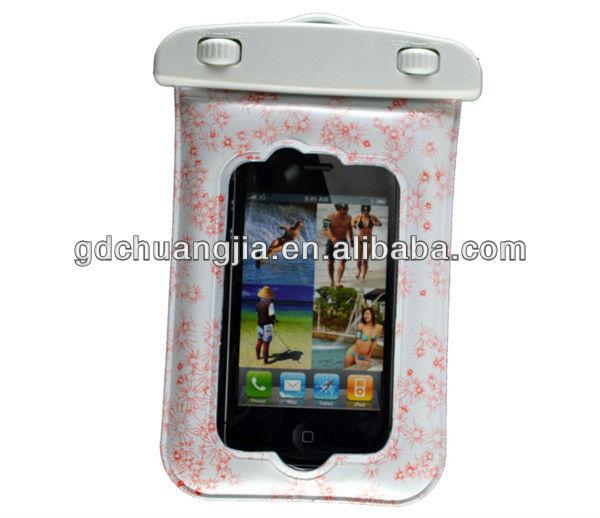 2014 underwater 20M pvc waterproof mobile phone case for iphone 4
