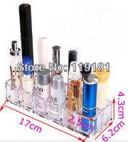 Бокс для хранения Clear Acrylic Cosmetic Organizer 12 Grid Lipstick/Lip gloss/Nail Polish Holder Tray Display Stand Rack makeup case