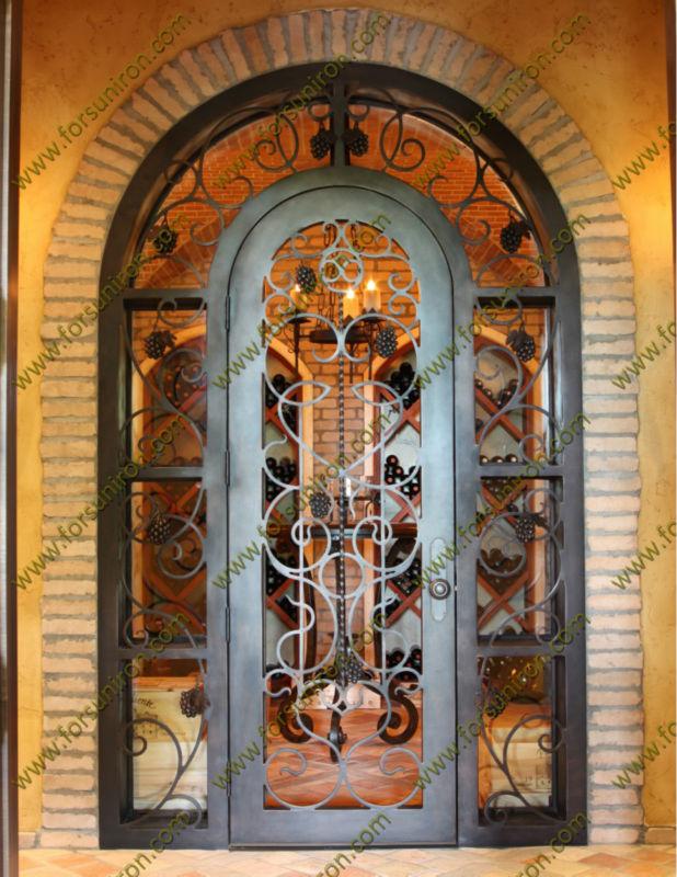 De luxe forg portes de cave vin pour villa portes id de for Porte en fer pour cave