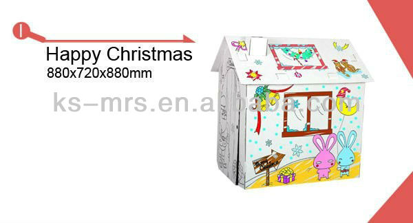 kids craft big playhouse villa toy top sell 2013