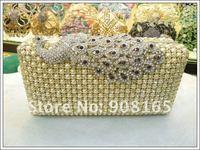 Вечерняя сумка new diamond Peacock luxury noble women dress evening clutch bags/party handbags