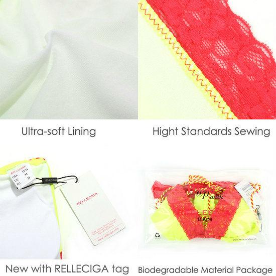 Relleciga Triangle Bikini maillots de bain - Neon jaune ...