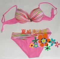 Женское бикини 2012 new summer colorful striped swimwear four color polyester sexy bikini women