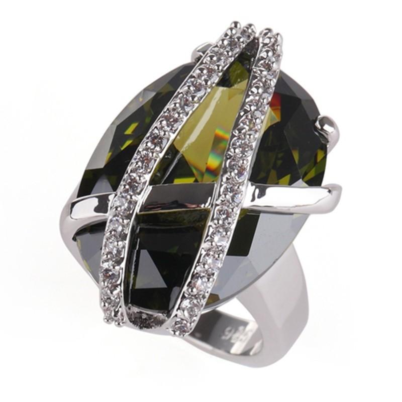 Ювелирный набор Romantic Olive crystal 925 silver fashion heart set 525set sz6 7 8 9