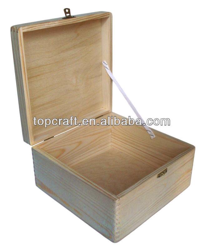 Plain Large Wooden Storage Chest 35x25x25cm, View wooden storage chest ...