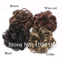 Шиньон 50pcs/lot* 4 Colors Hair Extension Pony Tail Bride Bun Hairpiece Fake Hair Scrunchie Wavy Dropshipping LX0008#50