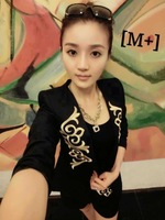 Женский костюм с юбкой Autumn wear casual dress baroque gold thread embroidery a suit with cultivate one's morality pants suit