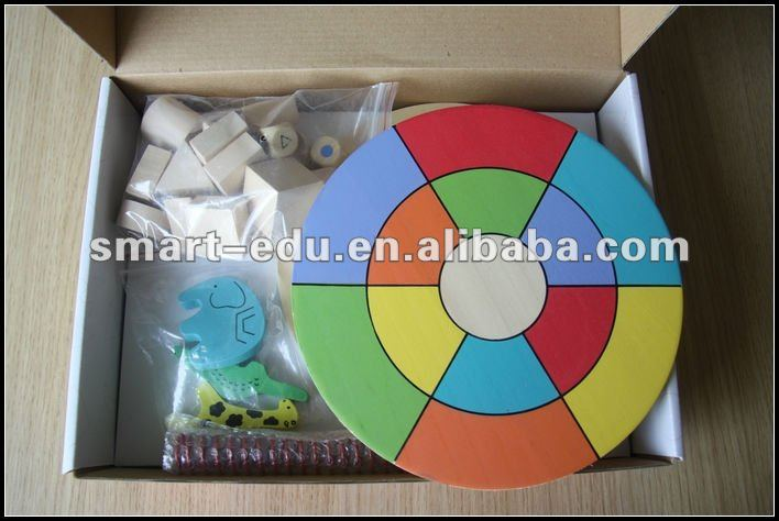 learning age Brand educational wooden puzzle Balance Player