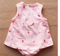 Новая весна лето 100% хлопок 0-24 m девушка платье комбинезон девочек комбинезон Картеры девочку вышитые комбинезон