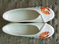 Обувь для танцев Low help embroidery dancing shoes, a national wind