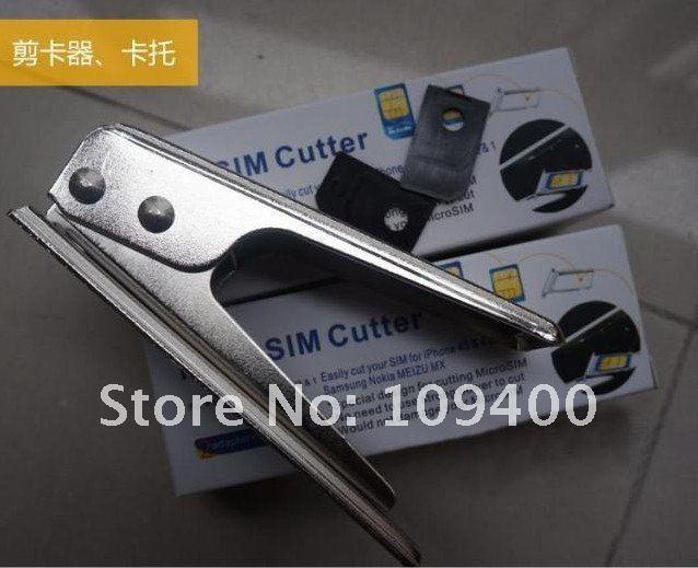 Micro Sim Card Cutter Tools +2pcs Adapter for iPad / iPhone Free ship